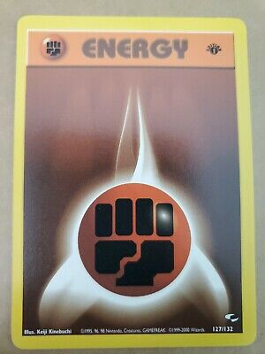 FIGHTING ENERGY 1st Edition Gym Heroes 127/132 Pack Fresh Pokemon Card