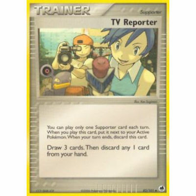 Pokemon TRAINER TV REPORTER 82/101 UNCOMMON NM CARD  DRAGON FRONTIERS
