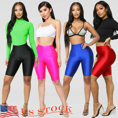 bf6b740695bad Women Cycling Shorts Dancing Gym Biker Hot Pants Leggings Active Sports US