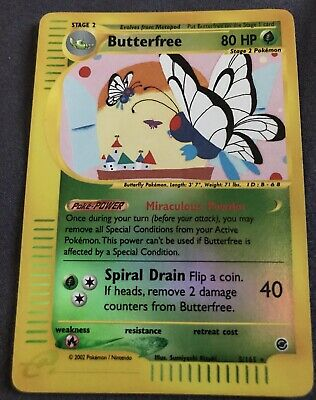 Butterfree 2002 Pokemon Expedition Base Set  5/165 REVERSE FOIL