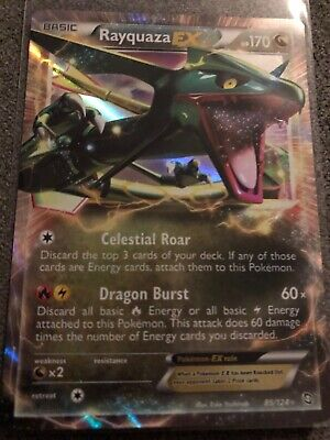 Pokemon Rayquaza Ex Dragons Exalted 85/124 Half Art Holo Nr Mint