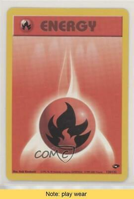 1999 Pokemon Gym Challenge Unlimited Fire Energy #128 READ 0s5