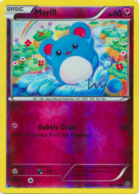 Pokemon  MARILL 76/114 COMMON REVERSE HOLOFOIL NM CARD PRIMAL CLASH