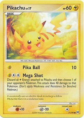 Pokemon Pikachu Lv.17 71/99 Common Nm Card  Platinum Arceus