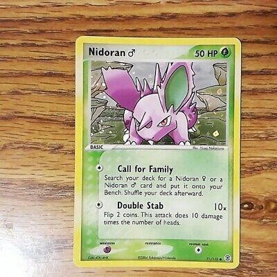 Nidoran 71/112 FireRed & LeafGreen Revers Holo Common Pokemon Card (NM) 122020
