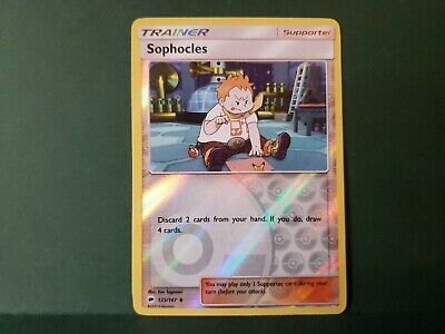 Pokemon Burning Shadows Sophocles Trainer Card Uncommon Reverse Holo