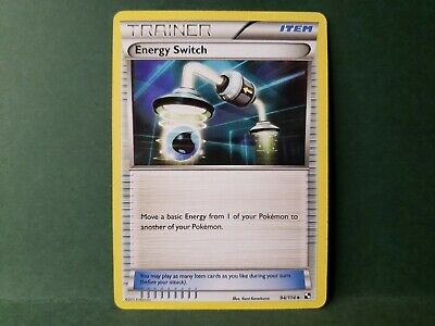 Pokemon Black And White Energy Switch Trainer Single Card Uncommon