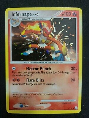 Pokemon Infernape 5/130 Diamond & Pearl Rare Holo Near Mint NM