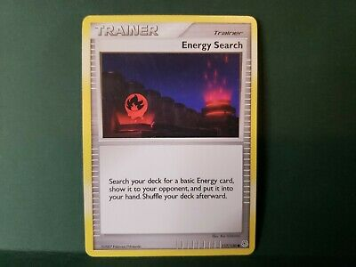 Pokemon Diamond And Pearl Energy Search Trainer Single Card Common
