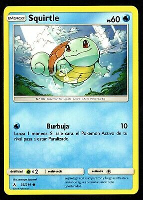 Squirtle 33/214 Vinculos Indestructibles Cromo Pokemon Unbroken Bonds 2019 Tcg