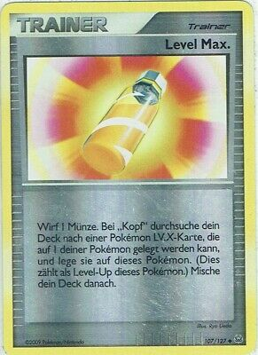 Pokemon Card Trading Card Platinum No. 107/127 Level Max. Reverse Holo German