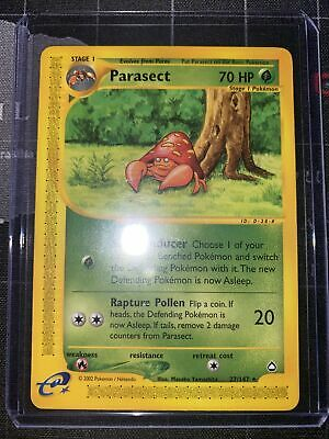 Parasect 27/147 - Aquapolis E-Reader - Rare - Vintage WOTC Pokemon Card