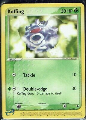 Pokemon Card Trading Card Game Ex Ruby & Sapphire No. 54/109 Koffing English