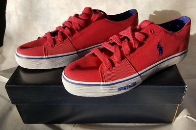 Polo Ralph Lauren Scarpe Sneakers Uomo Tela Nuove Cantor Low Pink N. 43  Scarpa eebc5862513