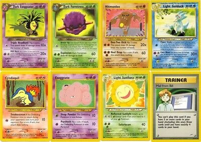 Official Pokemon Trading Cards Rare Uncommon NEO DESTINY Collection Set /105
