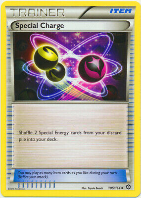 1x - Special Charge - 105/114 - Uncommon NM Pokemon XY Steam Siege