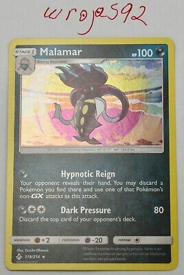 POKEMON TCG Unbroken Bonds Malamar 119/214 HOLO Near Mint Pack Fresh