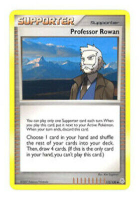 1x - Professor Rowan - 112/130 - Uncommon HP Pokemon Diamond and Pearl
