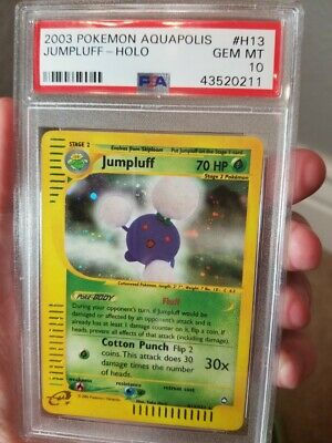Psa 10 Gem Mint 2003 Pokemon Aquapolis Set Jumpluff Holo Card H13/h32