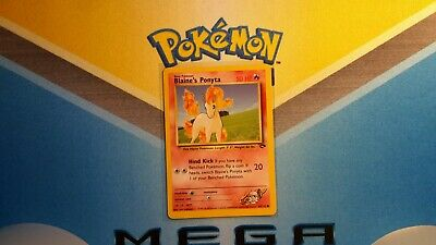 Blaine's Ponyta Gym Challenge Pokemon Card LP