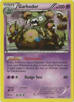 1x - Garbodor - 54/124 - Holo Rare - Reverse Holo NM Pokemon Dragons Exalted