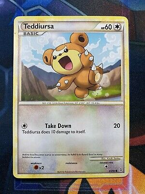 Pokemon HS Unleashed Sampling Pack 65/95 Teddiursa English Heartgold Soulsilver