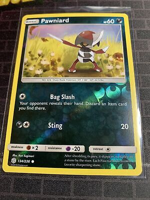 Pawniard  134/236 S&M: Cosmic Eclipse  Reverse Holo  Mint/NM  Pokemon