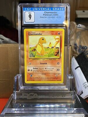 🔥BASE SET🔥 1999 Pokemon Base Set Charmander #46 CGC 9 MINT - PSA BGS SA2