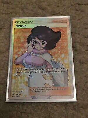 FULL ART Wicke trainer Pokemon 147/147 SM Burning Shadows Holo