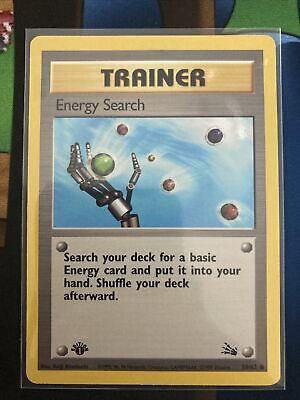 1st edition Energy Search 1999 Pokemon Fossil WOTC NM 59/62