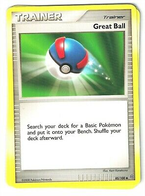 Pokemon Diamond and Pearl Stormfront, Great Ball 85/100  uncommon Mint