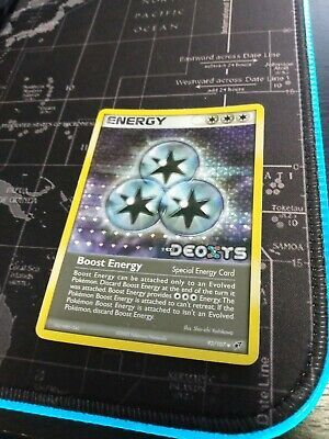 Boost Energy 93/107 Reverse Holo Stamp Pokemon Ex Deoxys 2005 MP