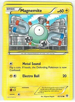Pokemon TCG Plasma Storm, Magnemite 42/135 Common, Mint