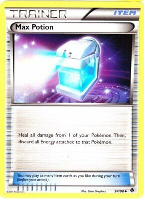 1x - Max Potion - 94/98 - Uncommon LP, English Pokemon Emerging Powers