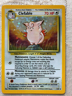 Pokemon Jungle NO SYMBOL Holo Clefable #1 Never Played