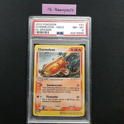 Pokemon Card 2003 EX Dragon SR Charmeleon Holo 99/97 PSA 8 NM-MT