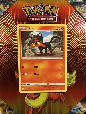 Pokemon LITTEN Sun & Moon Base Set 24/149 NM/Mint