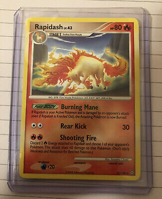 Rapidash Diamond And Pearl Stormfront RARE - Pokemon Card 22/100 - Pack Pulled