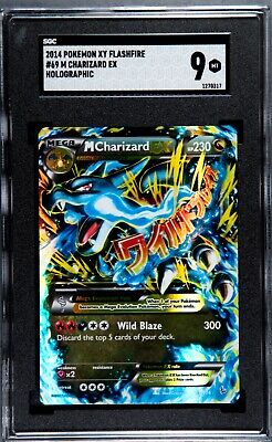 2014 Pokemon TCG XY Flashfire Mega M Charizard Ex #69 Holo SGC 9 MINT PSA Cross?