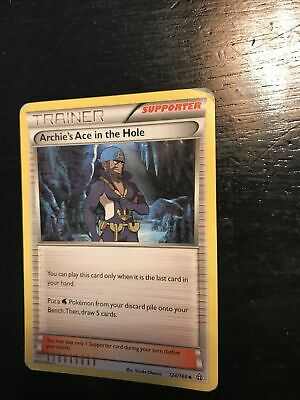 Archie's Ace in the Hole 124/160 Primal Clash Reverse Holo NM Pokemon DNA GAMES