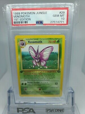 1999 Pokemon Jungle 1st Edition Venomoth #29 PSA 10 GEM MINT