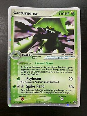 Pokemon 2005 Nintendo EX Emerald 91/106 Cacturne ex Holo Rare English