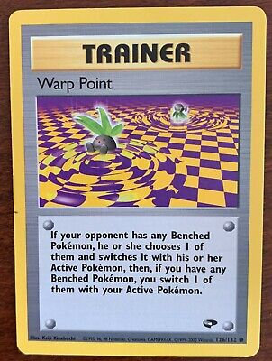 Warp Point 126/132 Common Gym Challenge Pokemon Card