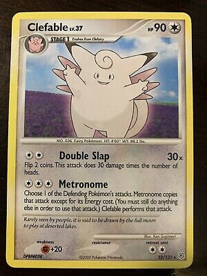 Clefable 22/130 POKEMON Diamond & Pearl RARE Colorless Near Mint NEW HP 90 x1