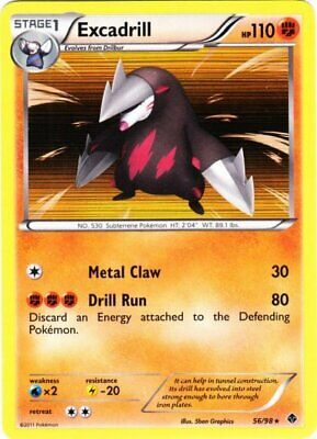 1x - Excadrill - 56/98 - Holo Rare LP, English Pokemon Emerging Powers
