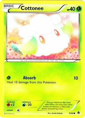 1x - Cottonee - 9/98 - Common - Reverse Holo LP, English Pokemon Emerging Powers