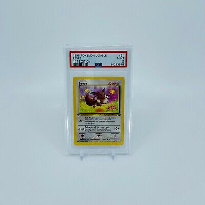 Pokemon TCG: Jungle 1st Edition - Eevee (Common) 51/64, PSA 9, Mint Condition!
