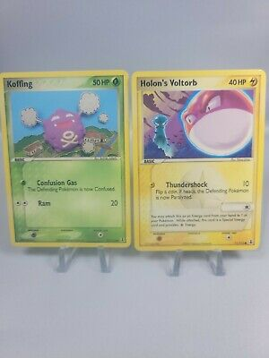 Pokemon EX Delta Species Holon's Voltorb 71/113 Non Holo & Koffing 73/113 Non Ho