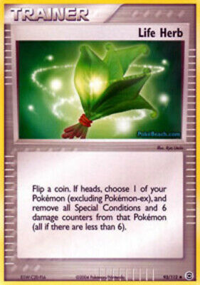 1x - Life Herb - 93/112 - Uncommon NM, English Pokemon EX FireRed & LeafGreen