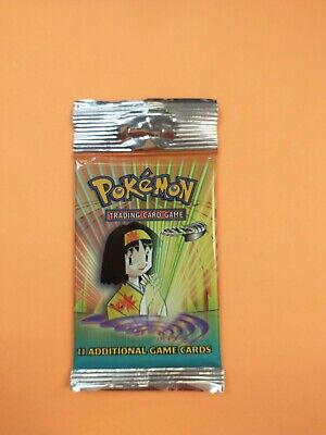Pokemon Gym Heroes Long Booster Pack Factory Sealed Freshly Opened Case Erika